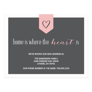 Cartão Postal Mudança do anúncio de endereço