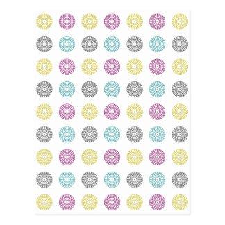 Cartão Postal Multi pontos coloridos