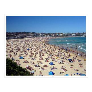 Cartão Postal multidões da praia do bondi