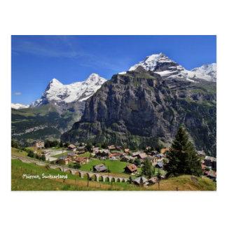 Cartão Postal Mürren, suiça - Schweiz