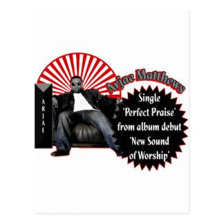 Cartão Postal Música de Arjae Matthews do design do estilo 2