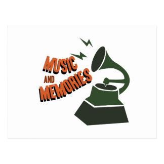 Cartão Postal Música & memórias