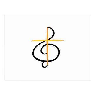 Cartão Postal Músico da igreja