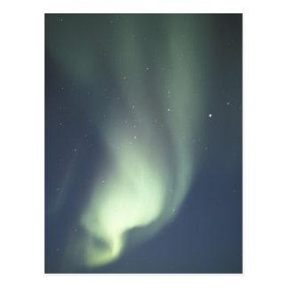 Cartão Postal NA, Canadá, Manitoba, aurora boreal de Churchill,