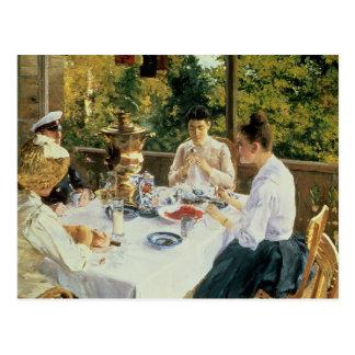 Cartão Postal Na Chá-Mesa, 1888