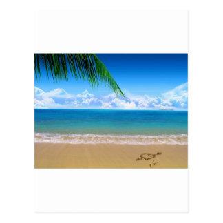 Cartão Postal na praia
