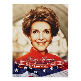 Cartão Postal Nancy Reagan, primeira senhora dos E.U.
