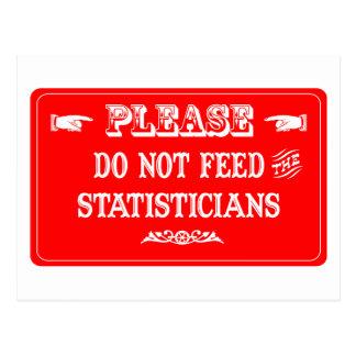 Cartão Postal Não alimente os estatísticos
