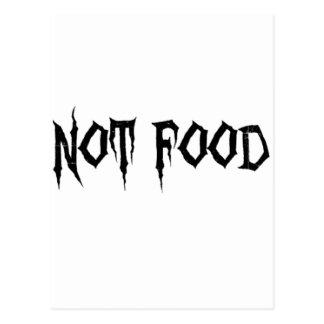 Cartão Postal Não comida