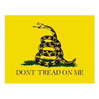 Cartão Postal Não pise em mim a bandeira americana de Gadsden