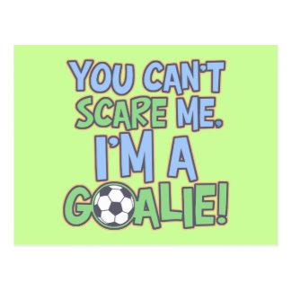 Cartão Postal Não pode o susto mim que eu sou um Goalie