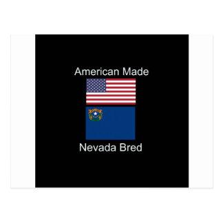 """Cartão Postal """"Nascer americano. Nevada produziu"""" bandeiras e"""