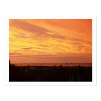 Cartão Postal Nascer do sol do litoral