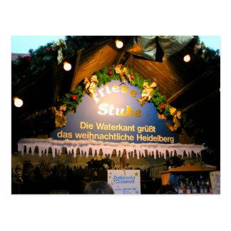 Cartão Postal Natal alemão, stube festivo do mercado do Natal