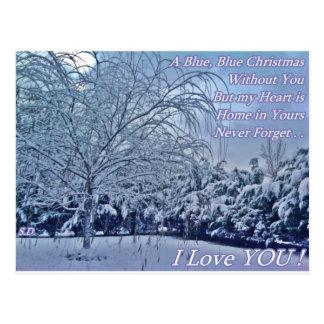 Cartão Postal Natal azul