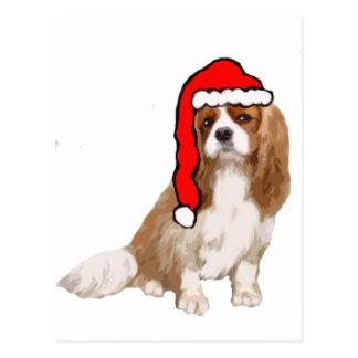 Cartão Postal Natal descuidado do Spaniel de rei Charles