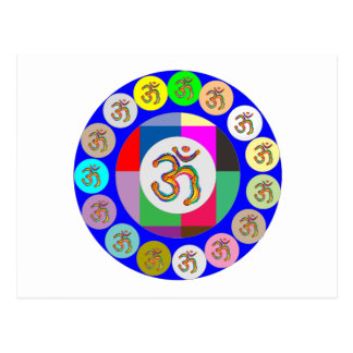 Cartão Postal navinJOSHI 1 da meditação da ioga do canto da