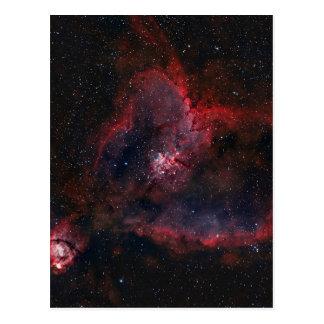 Cartão Postal Nebulosa do coração