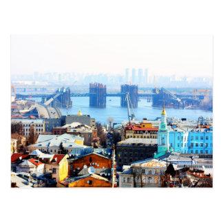 Cartão Postal Negócio de Kiev e cidade industrial
