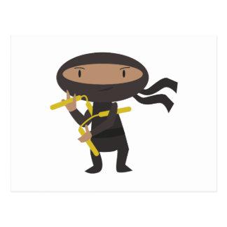 Cartão Postal Ninja engraçado