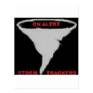 Cartão Postal No logotipo alerta dos perseguidores da tempestade