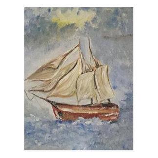 Cartão Postal No mar