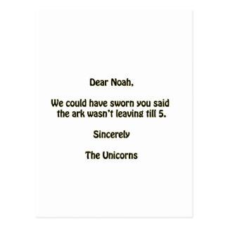 Cartão Postal Noah