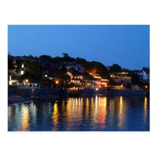 Cartão Postal Noite de Nessebar