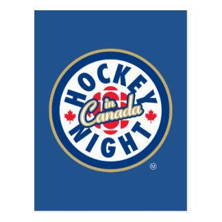 Cartão Postal Noite do hóquei no logotipo de Canadá