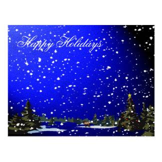 Cartão Postal Noite nevado