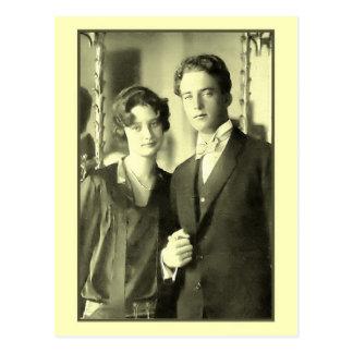 Cartão Postal Noivado da princesa Astrid e do príncipe Leopold