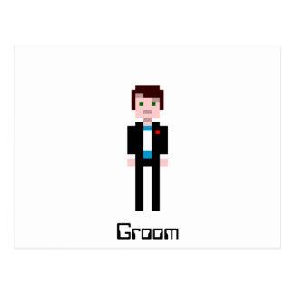 Cartão Postal Noivo do pixel