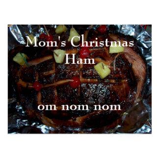 Cartão Postal Nom do nom do OM do presunto do Natal da mãe…