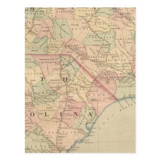 Cartão Postal North Carolina e South Carolina