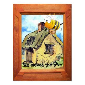 Cartão Postal Nós movemos a colmeia da abelha