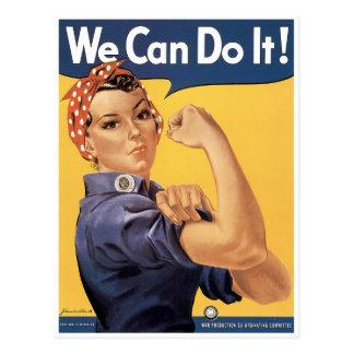 Cartão Postal Nós podemos fazê-lo!