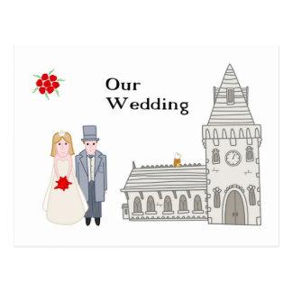 Cartão Postal Nosso casamento