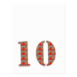 Cartão Postal Número 10 RELEMBRANÇA de um aniversário de DEZ