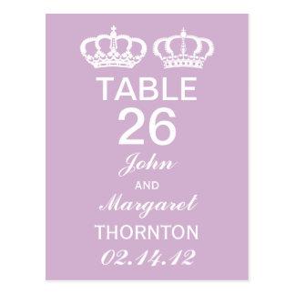 Cartão Postal Números reais da mesa do casal do Lilac