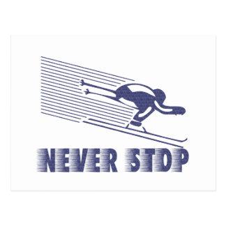 Cartão Postal Nunca pare: Esqui