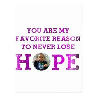 Cartão Postal Nunca perca a esperança - Audrey