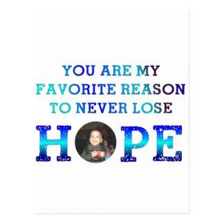 Cartão Postal Nunca perca a esperança - Caiden