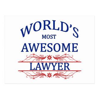 Cartão Postal O advogado o mais impressionante do mundo