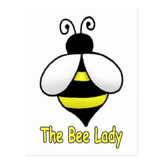 Cartão Postal O amarelo da senhora da abelha