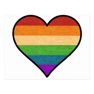 Cartão Postal O amor de LGBT é coração do arco-íris do amor