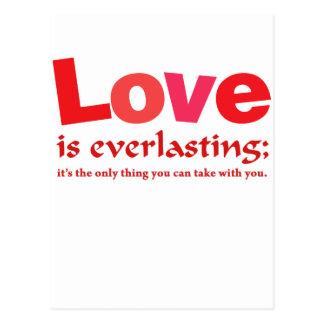 Cartão Postal O amor é eterno