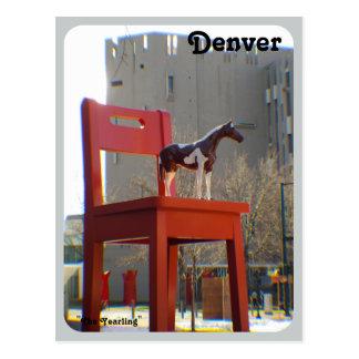 Cartão Postal O animal de um ano em Denver, Colorado