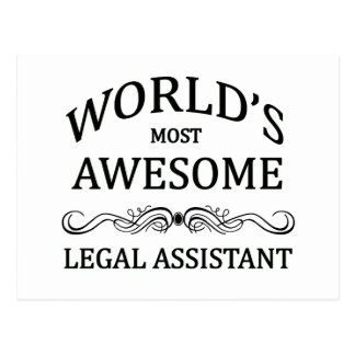 Cartão Postal O assistente legal o mais impressionante do mundo