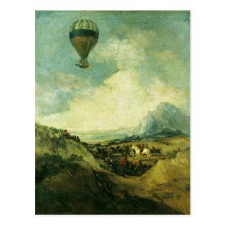 Cartão Postal O balão ou, a subida do Montgolfier