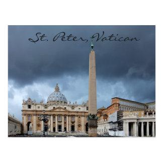 Cartão Postal O Basicila de St Peter, cidade santa do vaticano